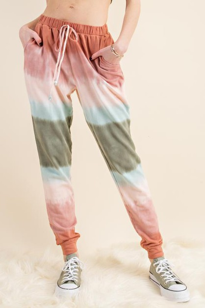OMBRE DYE COTTON JOGGER PANTS - orangeshine.com