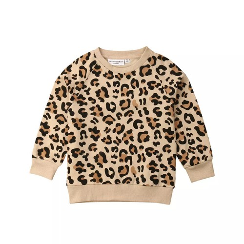 Kids leopard light sweatshirt - orangeshine.com