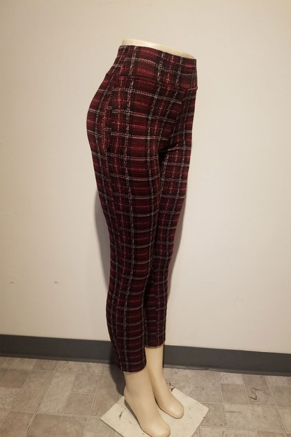high rise fitted pants with an elast - orangeshine.com