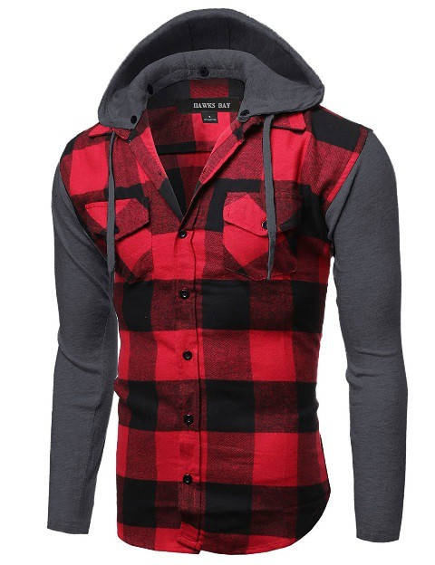 MENS FLANNEL SHIRT with DETACHABLE  - orangeshine.com
