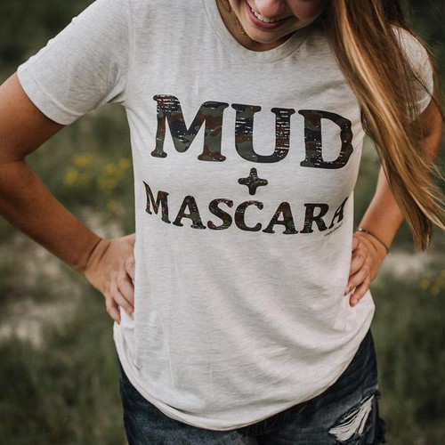 MUD and MASCARA Graphic Tee - orangeshine.com