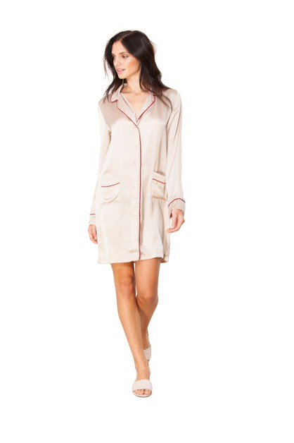 HB by Hale Bob Pocketed Shirt Dress - orangeshine.com