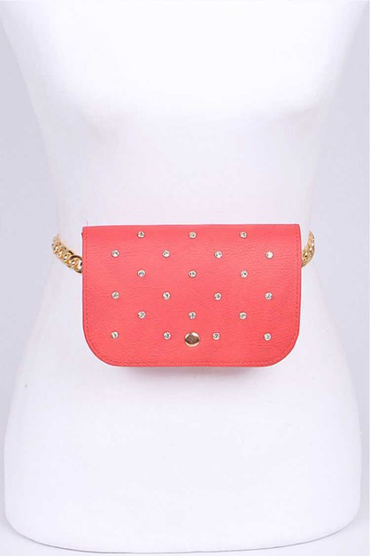 Crystal Studded Convertible Fanny Pa - orangeshine.com