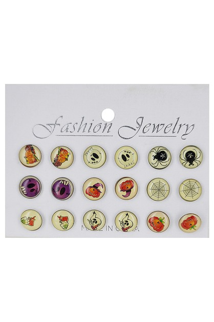 9-pair Halloween Theme Earring Set - orangeshine.com
