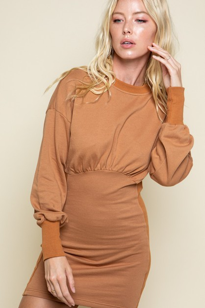 Tina Cotton Rib Dress - orangeshine.com