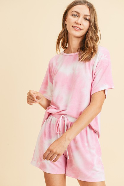 Tie Dye French Terry Knit Loungewear - orangeshine.com