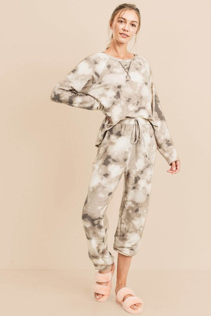 Tie Dye French Terry Loungewear Set - orangeshine.com