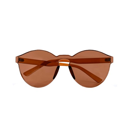Colorful One Piece Round Rimless Sun - orangeshine.com
