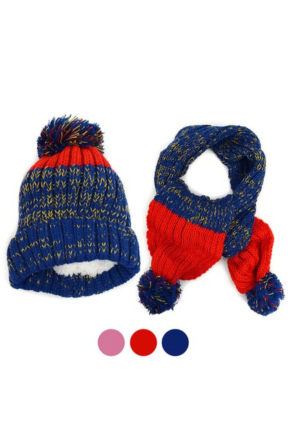 Kids Winter Knitted Set - orangeshine.com