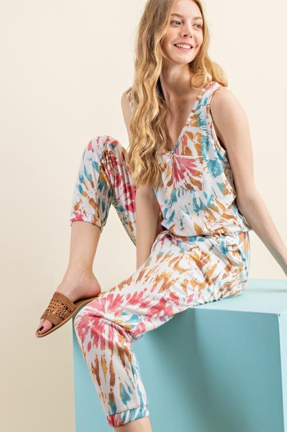 TRIPLE DYE POCKET JUMPSUIT - orangeshine.com