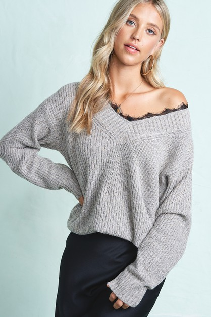 Romantic Lace sweater - orangeshine.com