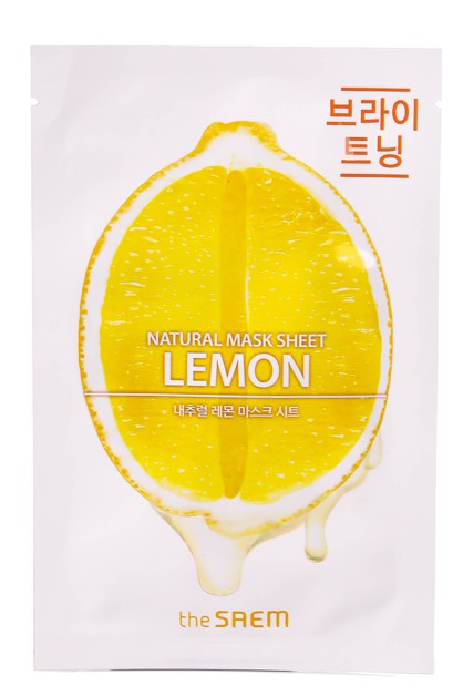 Natural Lemon Facial Mask Sheet - orangeshine.com