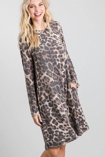 Animal Swing Mini Dress - orangeshine.com