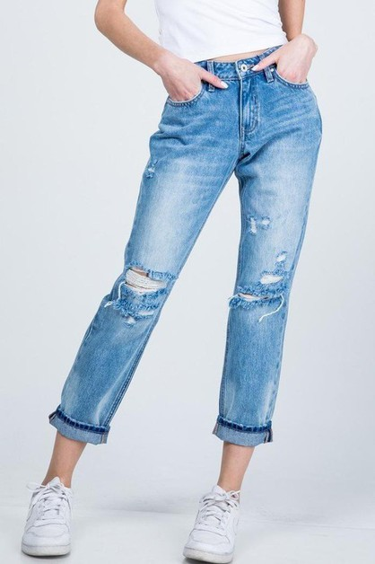 MID RISE RELAXED STRAIGHT JEANS  - orangeshine.com