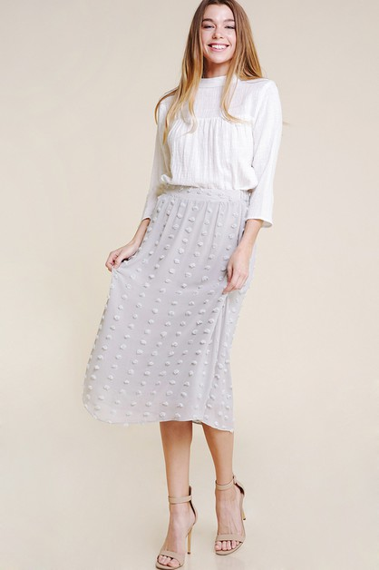 SWISS DOT MIDI SKIRT - orangeshine.com