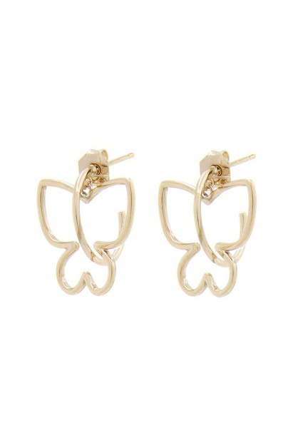 BUTTERFLY METAL STUD EARRING - orangeshine.com
