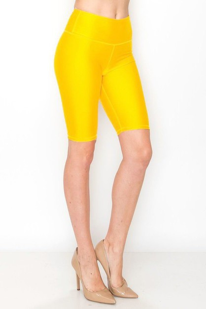 Shinny biker shorts  - orangeshine.com
