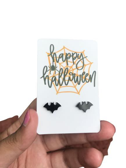Bat Stud Earrings for Halloween - orangeshine.com