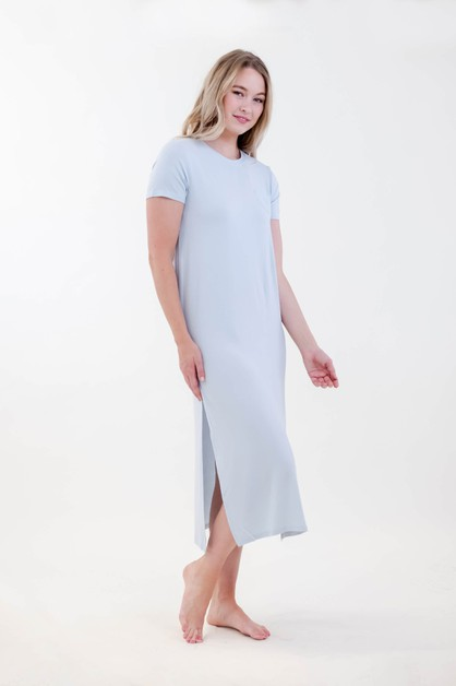 Spirit Side Slit Long Dress - orangeshine.com
