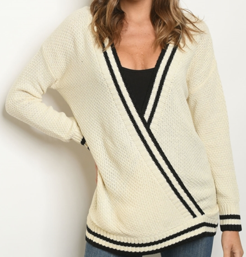 V Neck Sweater - orangeshine.com