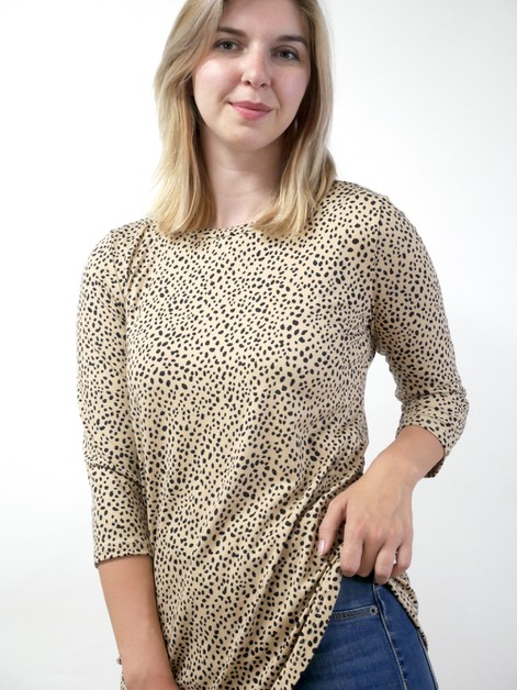 Dotted Print Tunic Top - orangeshine.com