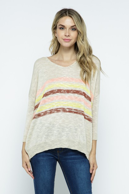 Striped Sweater - orangeshine.com