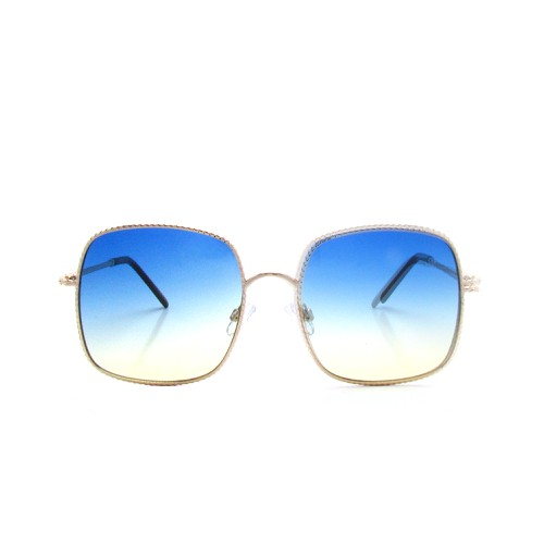 Oversize Square Metal Sunglasses - orangeshine.com