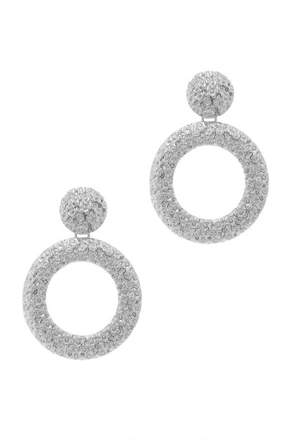 CHIC FLOWER PATTERN RING DROP EARRIN - orangeshine.com