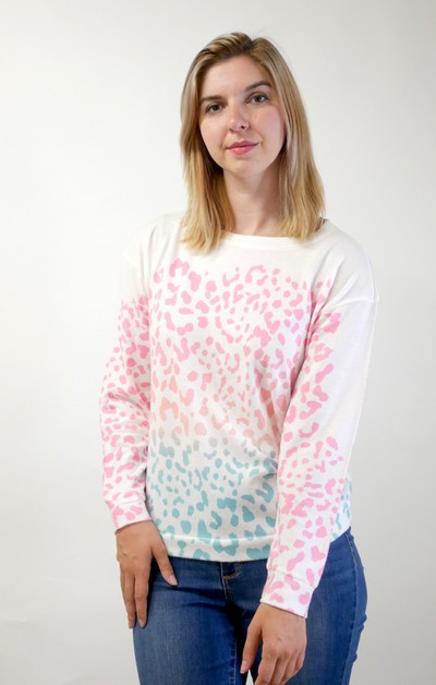 Leopard Long Sleeve Sweatshirt - orangeshine.com