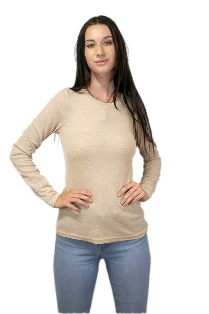 CREW NECK LONG SLEEVE THERMAL TOP - orangeshine.com