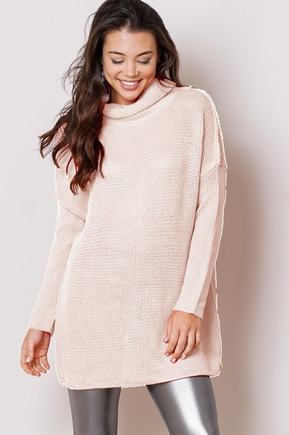 sweater turtle neck tunic - orangeshine.com