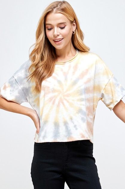 Unfinished  crop spider tie dye top - orangeshine.com