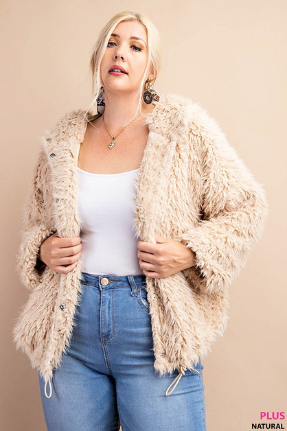 Soft faux fur parka jacket featuring - orangeshine.com