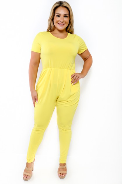 SHORT SLEEVE JUMPSUIT  - orangeshine.com