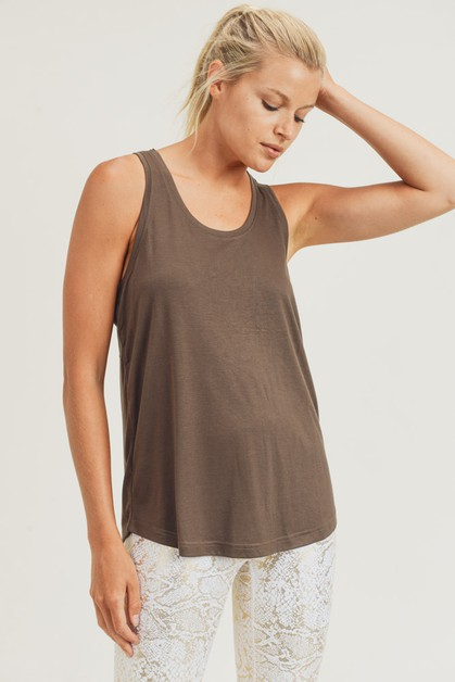 Open Overlay Back Tank Top - orangeshine.com