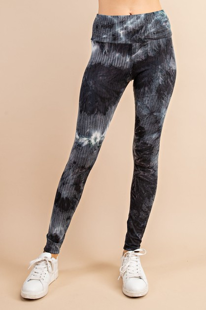 BLUE CLOUD TIE DYE LEGGINGS - orangeshine.com