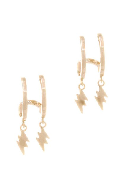 DOUBLE DANGLE LIGHTNING METAL EARRIN - orangeshine.com