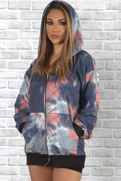 tie dye  hooded jacket - orangeshine.com