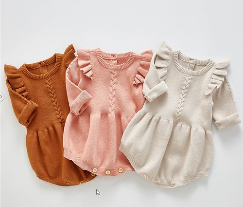 Baby knit rompers  - orangeshine.com