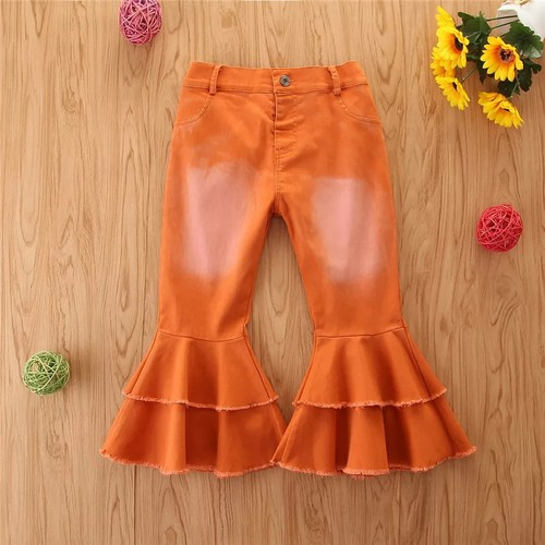Girls distressed bell bottoms  - orangeshine.com