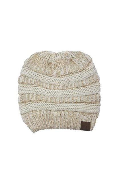 CC METALLIC TAIL BEANIE - orangeshine.com