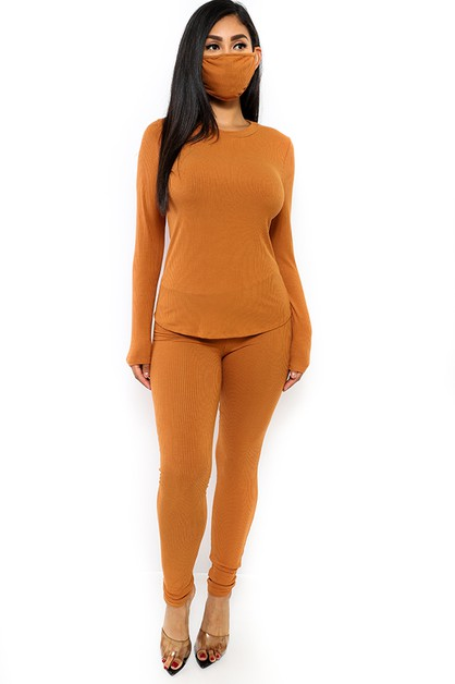 3 PC PANT SET WITH MASK - orangeshine.com
