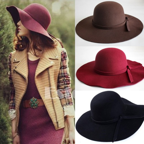 Women big brim floppy hats - orangeshine.com