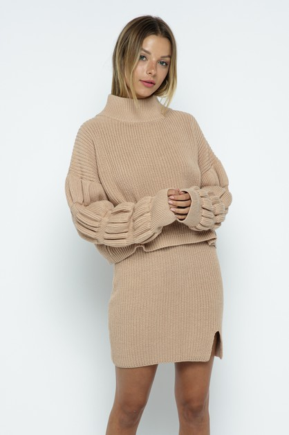 SWEATER SKIRT SET - orangeshine.com