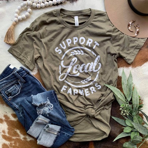 SUPPORT LOCAL FARMERS Graphic Tees - orangeshine.com