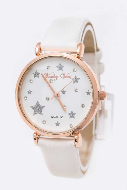 Glitter Star Crystal Dial Fashion Wa - orangeshine.com