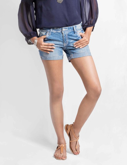 Womens Stretch Denim Shorts - orangeshine.com
