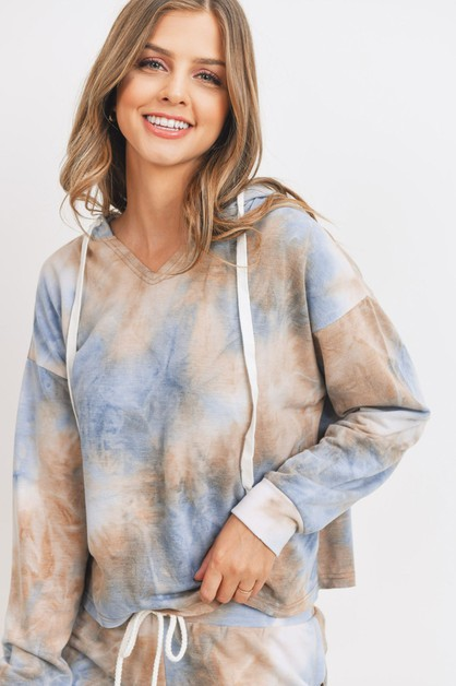 Baby Fleece Tie Dyed Hoodie Top - orangeshine.com