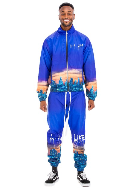 LA LIFE PRINT WINDBREAKER SET - orangeshine.com