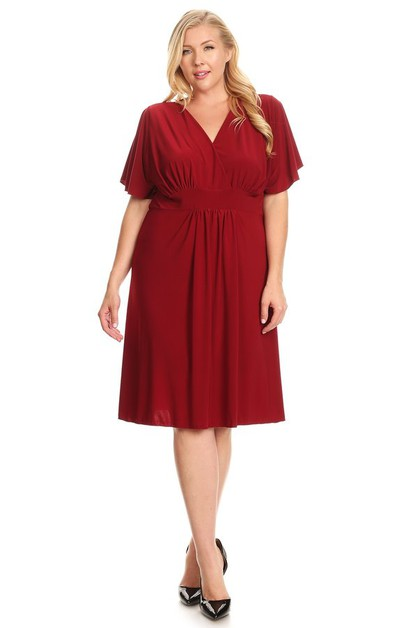 Relaxed fit mid-length dress - orangeshine.com